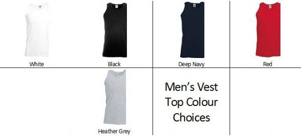 Men's Custom Design Personalised Vest Top